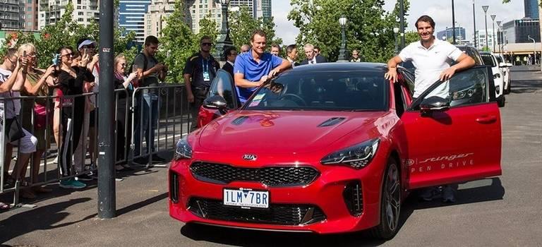 KIA Stinger иSorento Prime переданы вофициальный парк Australian Open 2018