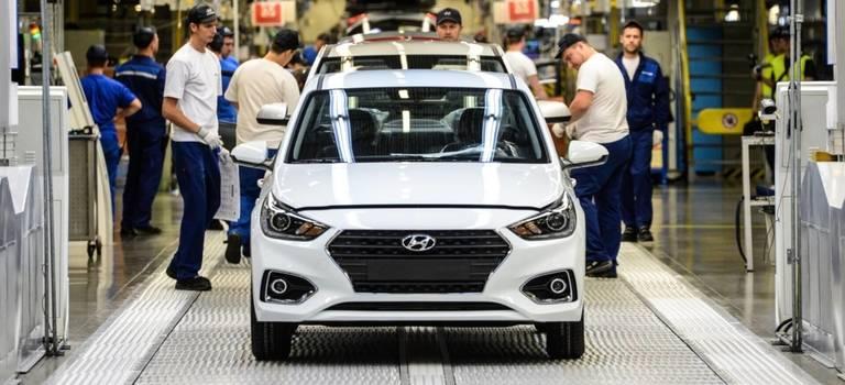 Российский завод Hyundai увеличил объем производства на10%